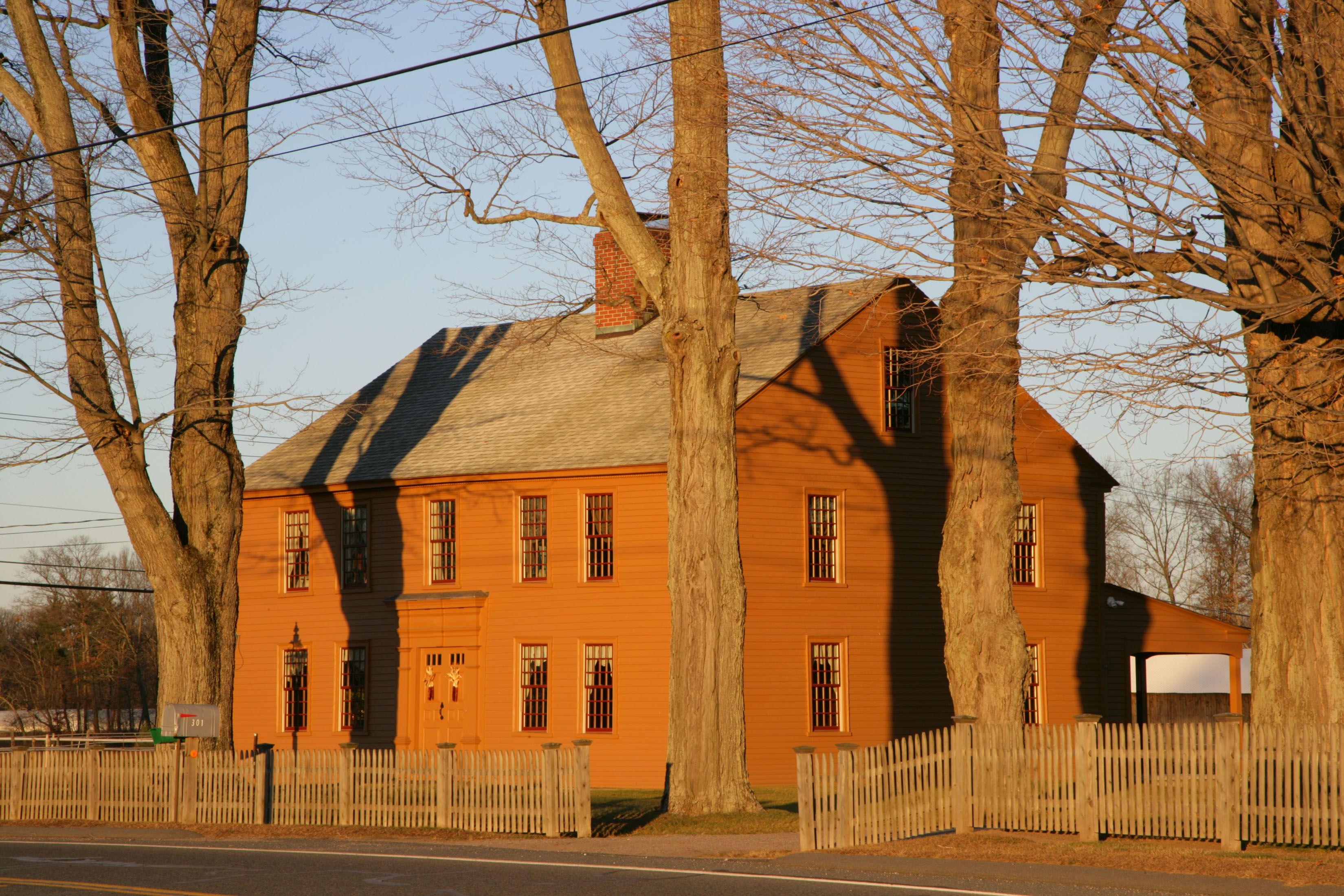 pumpkin colored house colonial house pinterest house house colors