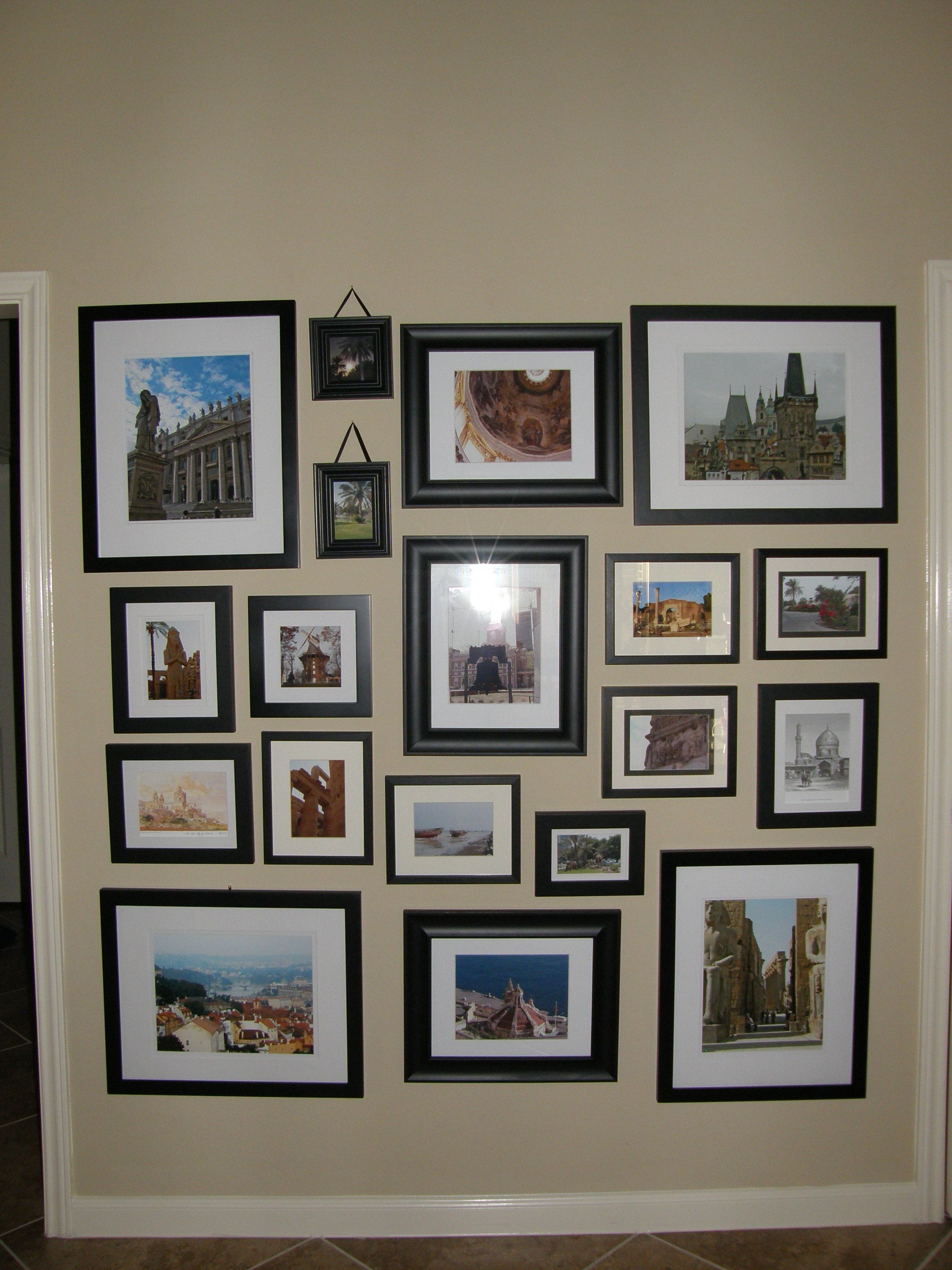 Color of art gallery walls - Our Travels Gallery Wall Black And White Or Color