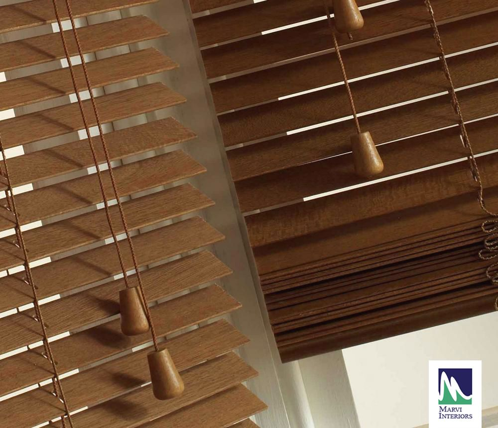 Venetian Blinds Wooden Window