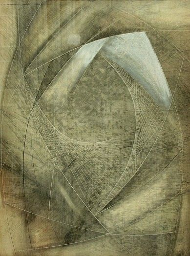 Marble Form (Mycenae) / Barbara Hepworth / 1959 / pencil and oil on panel (hardboard)