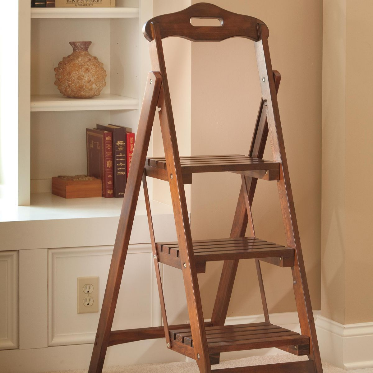 3 step folding stool home decor likes stool ladder folding stool rh pinterest com