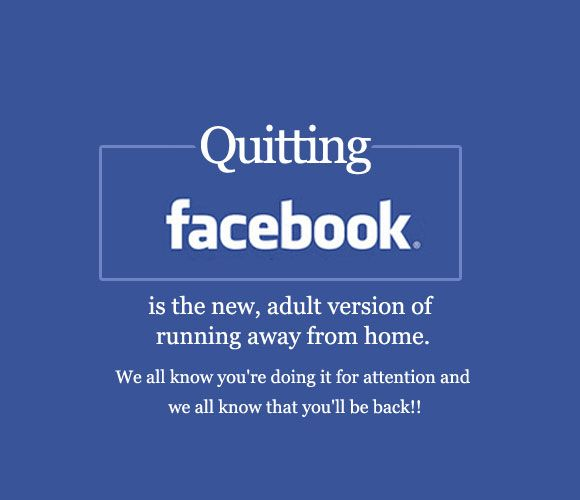 Quitting Facebook is the new, adult version of running