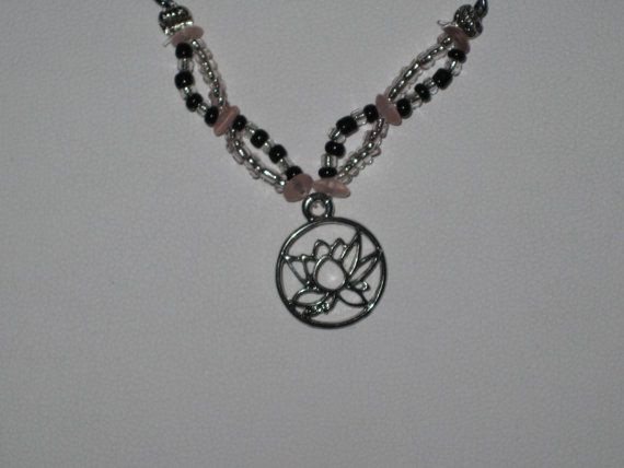 Lotus Blossom Necklace by BerrysBaubles on Etsy, $15.00
