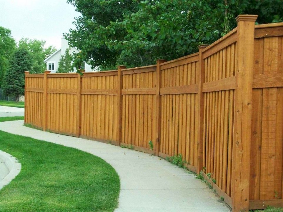 Cedar Fence Designs And Disadvantages Of Wood Fence Custom Cedar Wood Fence Design Wood Fence Design House Fence Design Fence Design