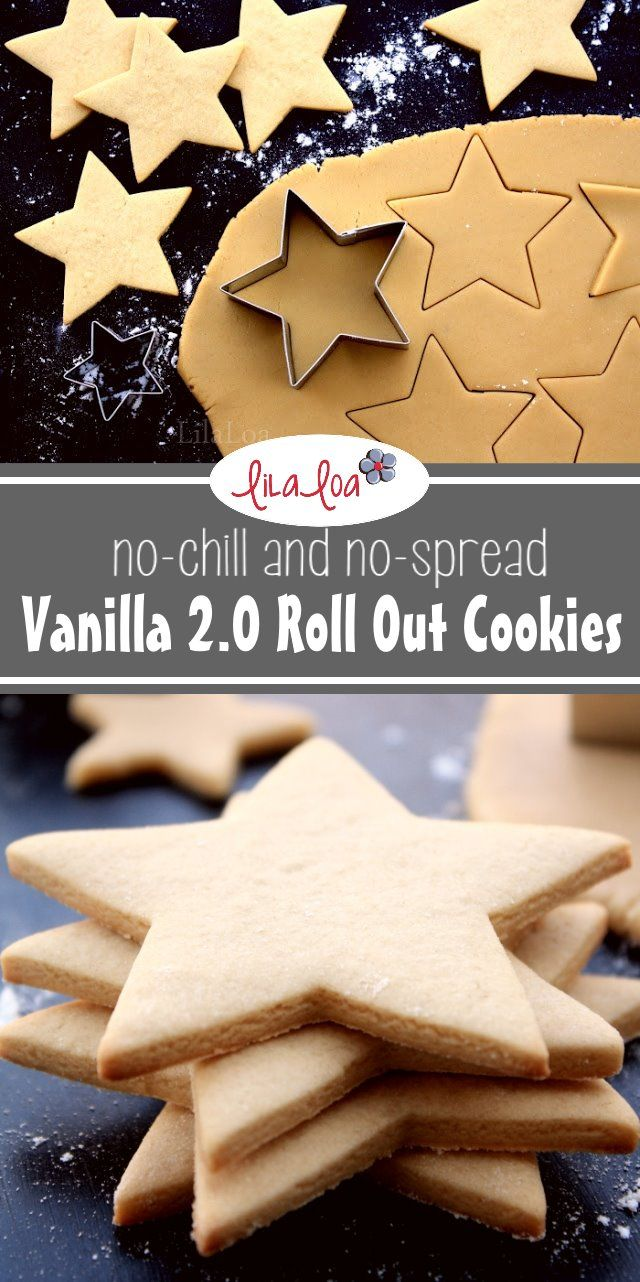 soft and chewy no chill and no spread vanilla roll out sugar cookie recipe using brown sugar for decorated cookies