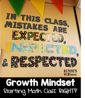 Growth Mindset In Math   Starting Math Class Right!
