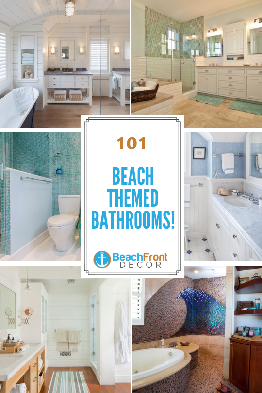 Discover 101 Beach Bathroom Ideas Including A Variety Of Beach Bathroom Decor You Can Choose From Be In 2020 Beach Theme Bathroom Beach Bathroom Decor Beach Bathrooms