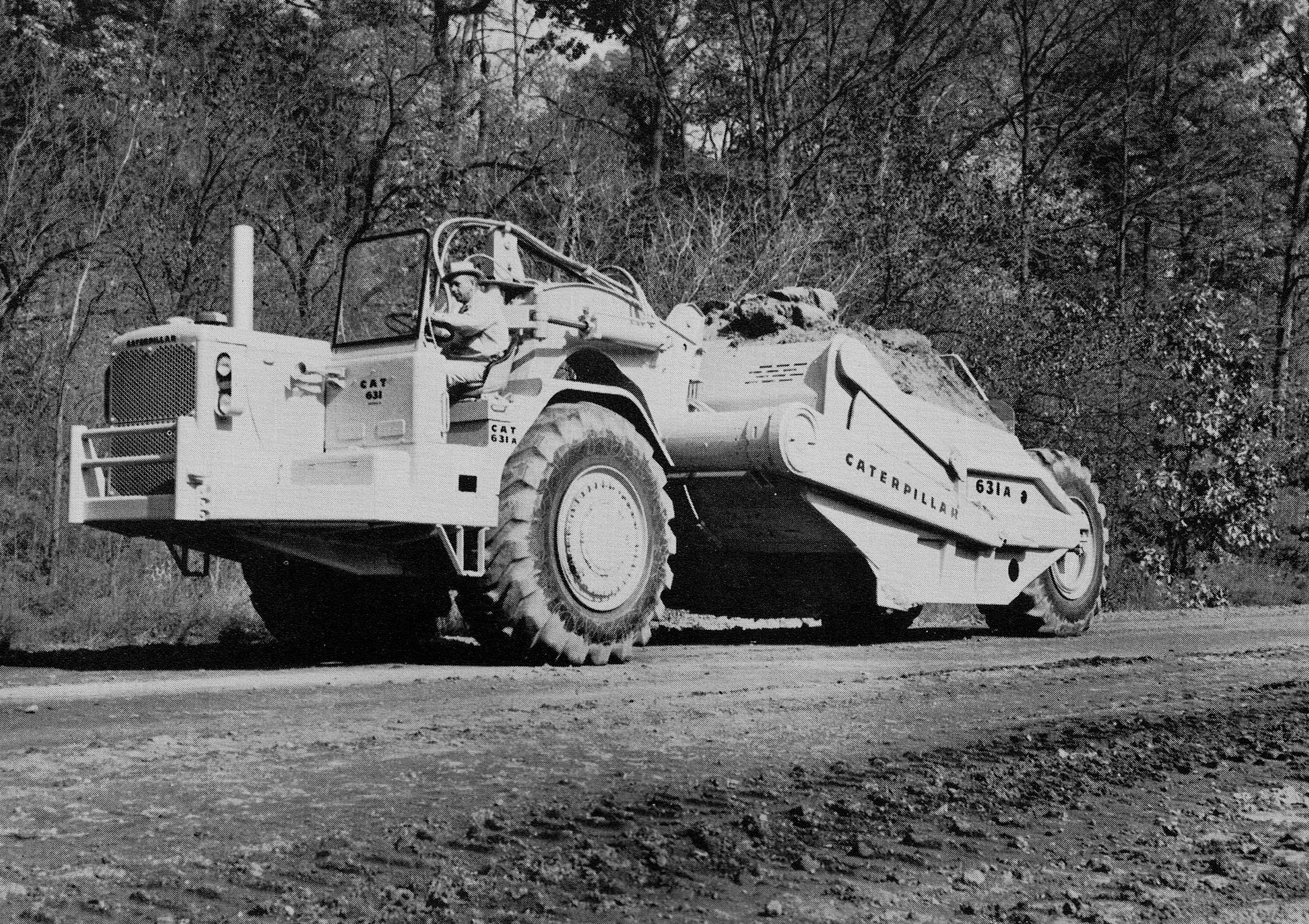 Classic machines The Caterpillar 631A scraper Pre