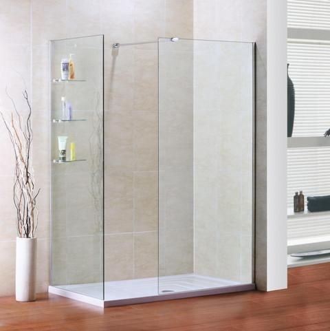 1200mm x 900mm walk in shower enclosure with mx shower tray