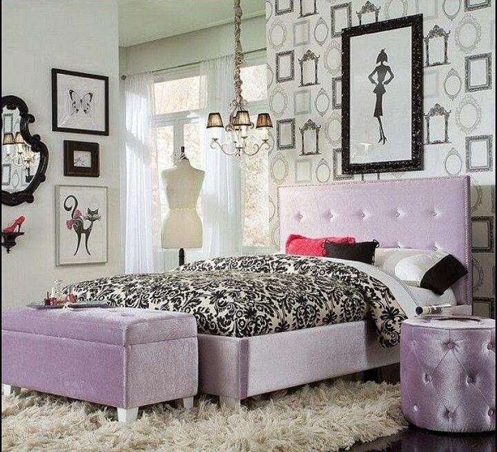 Lavender U0026 Black Bedroom