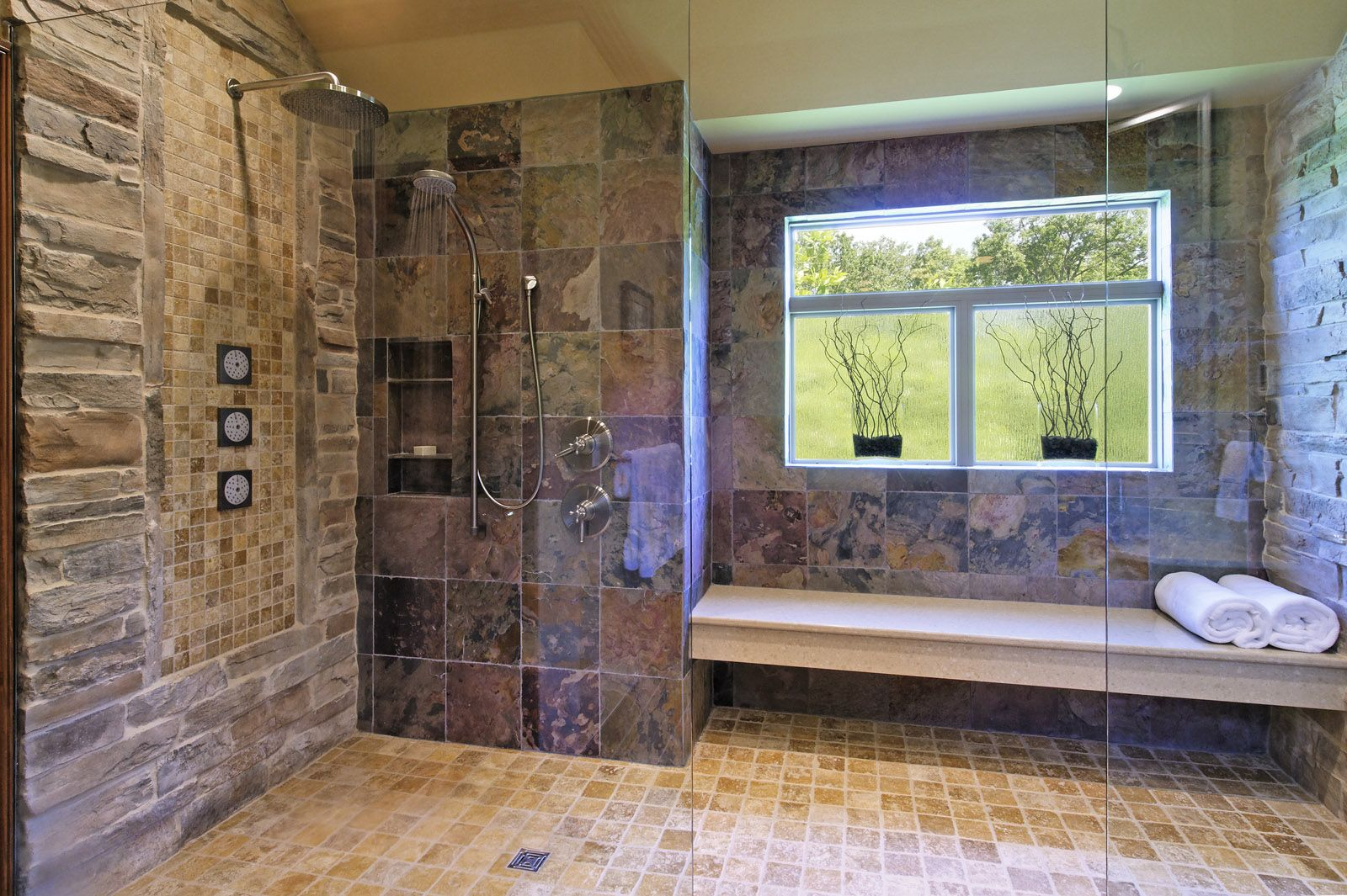 The Bathroom's Coloring Creates A Rustic Lookdesigned And Amusing Bathroom Design Columbus Ohio 2018