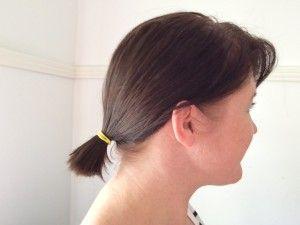 DIY bob haircut- short and messy - Iris in the evenings
