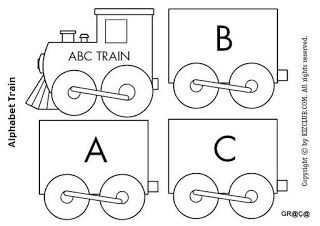 Espaco Educar Trenzinho Do Alfabeto Desenho De Trem Livros De