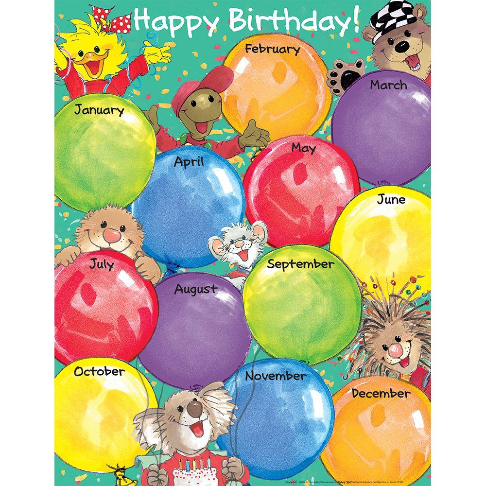 Classroom Decoration Happy Birthday : Suzy s zoo happy birthday chart classroom decor eureka