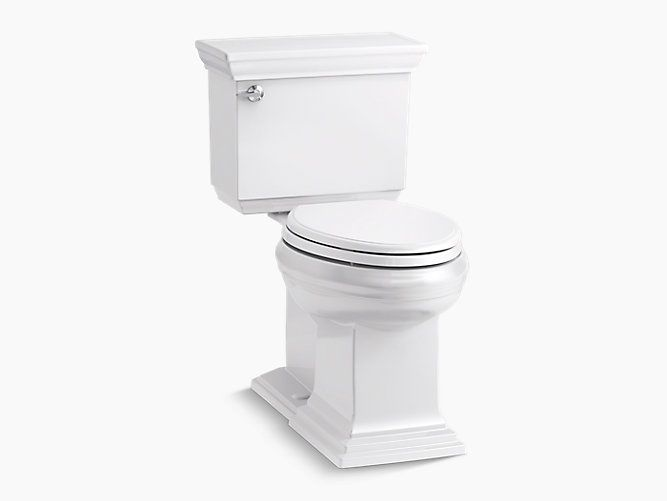 The K 6669 Two Piece Toilet Features A Water Saving 1 28 Gallon