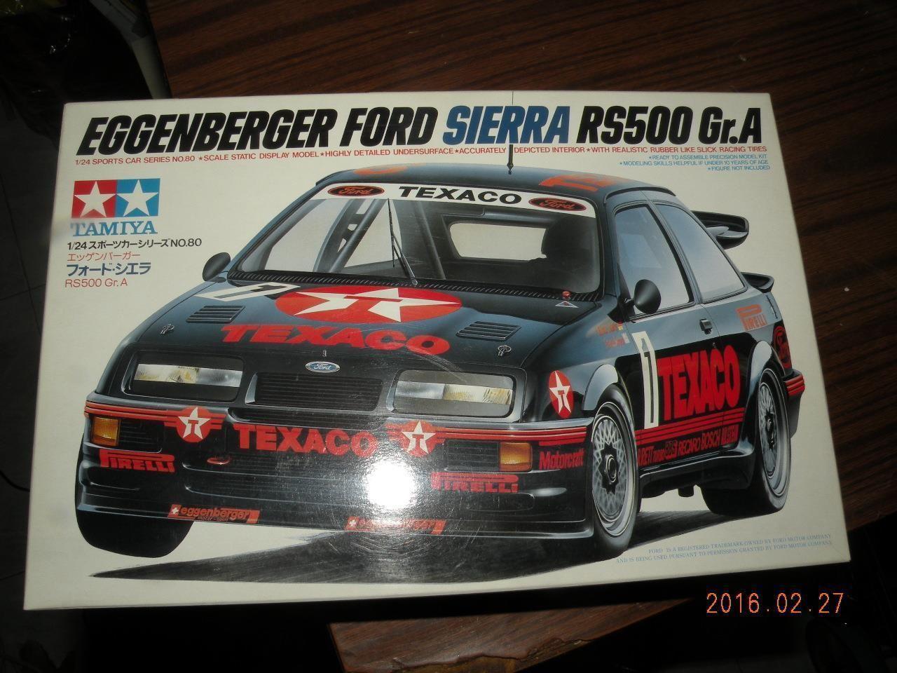 Tamiya 1 24 Eggenberger Ford Sierra Rs500 Gr A Kit Texaco 24080
