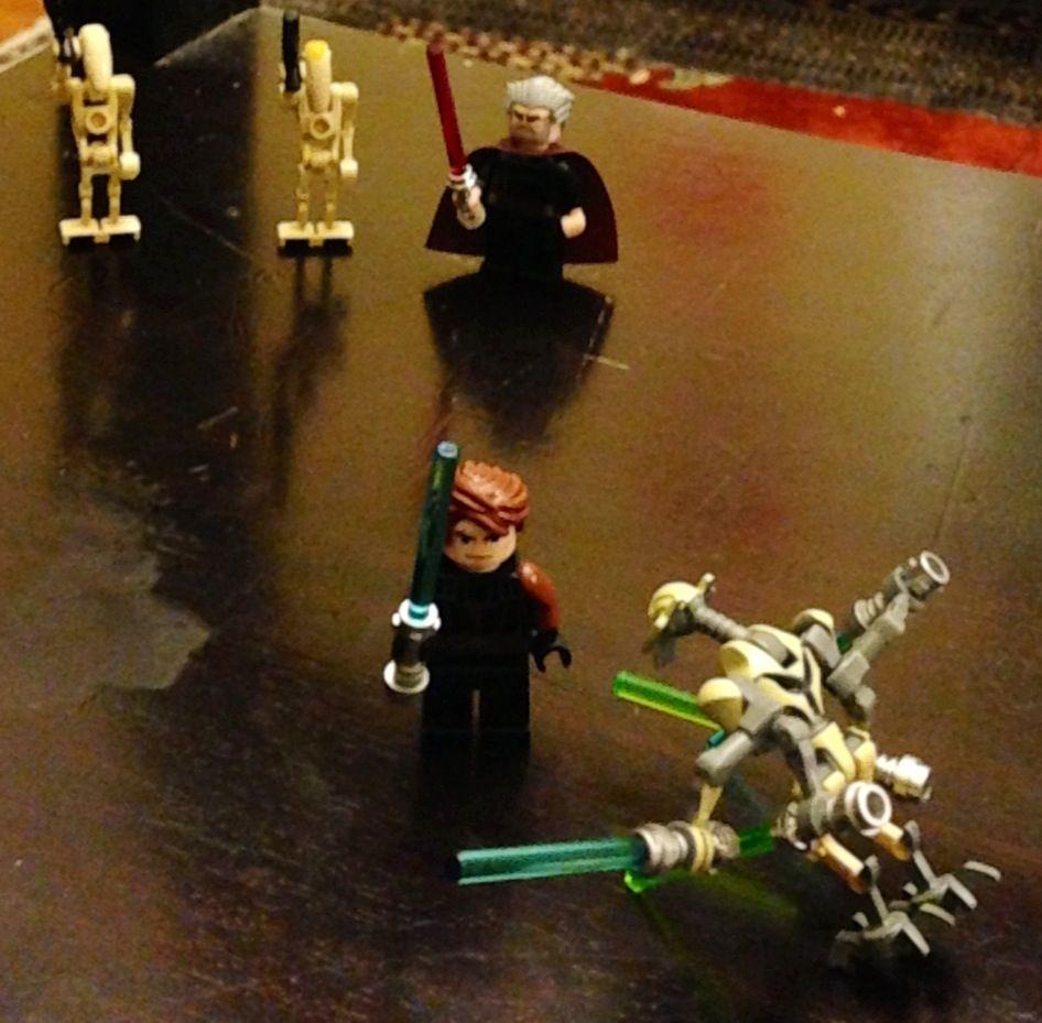 Battle scene droid, Anakin, General Grievous