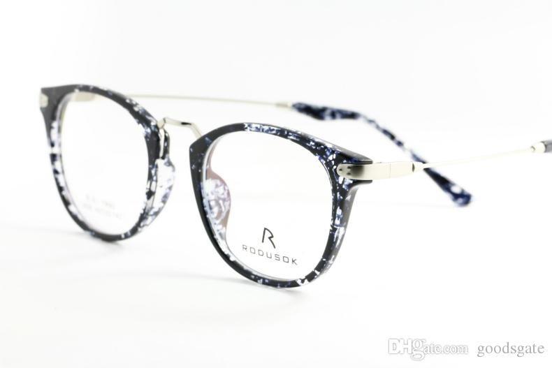 7f35a312eda RODUSOK High-End Eyeglass Glasses Frame Lovely Round White And Black ...