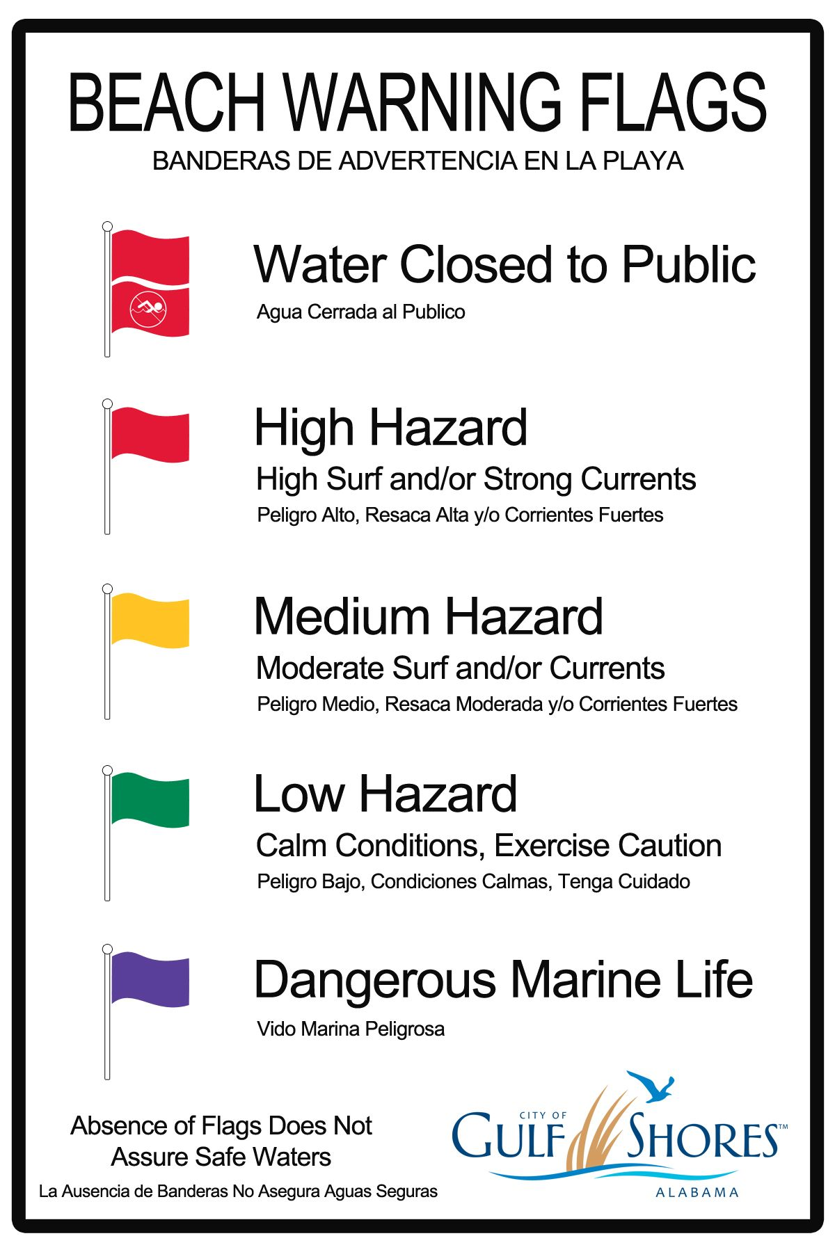 Beach Warning Flag Grahpic This is very important