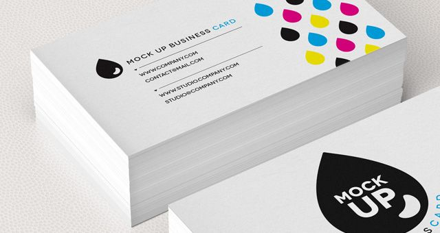 Color B W Invitation Business Cards Postcards Quick Color Custom Photo Lab Business Card Mock Up Business Card Psd Letterpress Business Cards