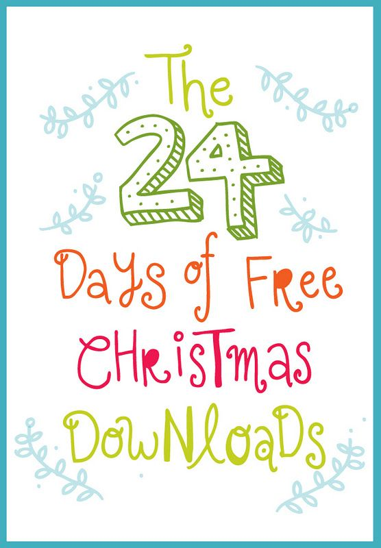 24 days of free christmas downloads at squeezy lemon so many cute things to print - Cute Things To Print Out
