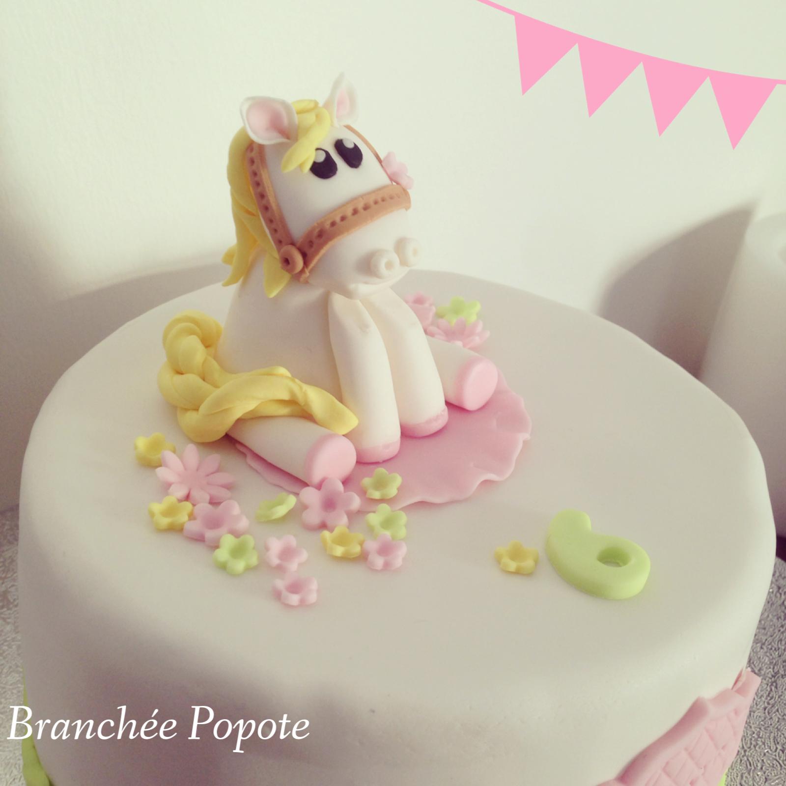 Top Gâteau en pâte à sucre – Poney pour ma nièce | Sucre, Pâtes et Gâteau DL56