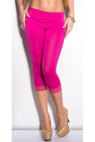 Super lækre Leggins - Pink  Leggins til Damer i behageligt materiale