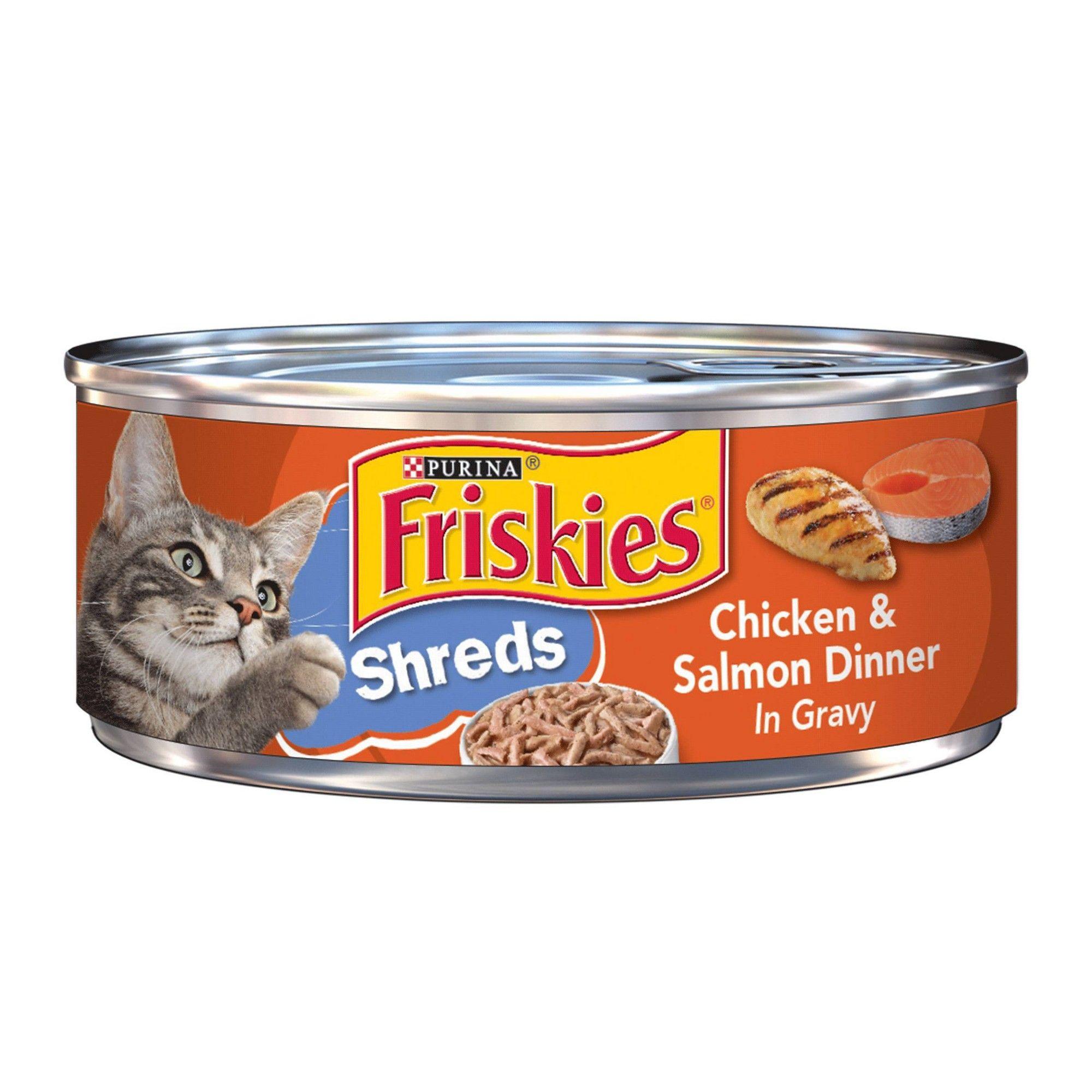Purina Friskies Shreds Wet Cat Food Chicken Salmon Dinner In Gravy 5 5oz ในป 2021