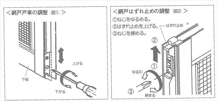 サッシ 網戸の調整方法 長野で注文住宅を建てる工務店 工房信州の家
