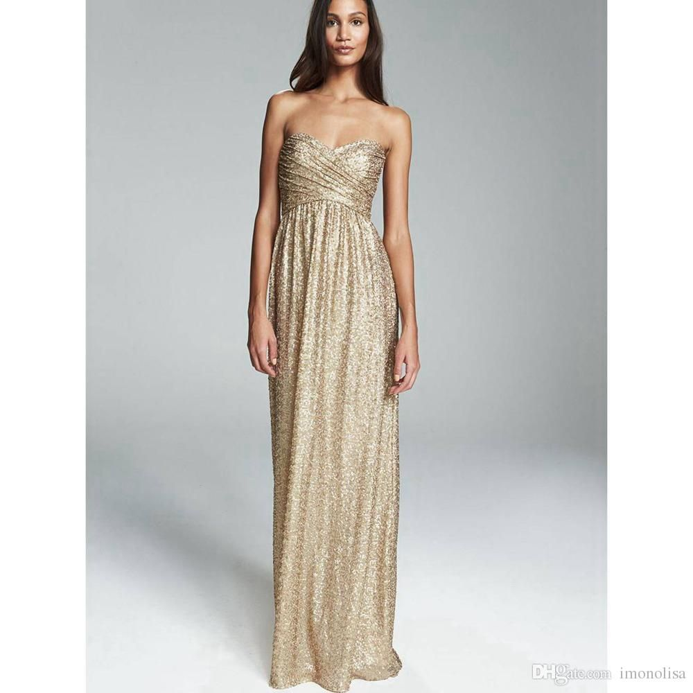 Rose gold bridesmaid dresses 2016 sweetheart neckline gold sequin rose gold bridesmaid dresses 2016 sweetheart neckline gold sequin bridesmaid dresses long maid of honor dresses ombrellifo Images