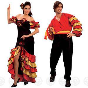 f82f9b202238 Traditional Spanish Dresses for Women | RUMBA-SPANISH-SENORITA-SALSA-FANCY- DRESS-DANCER-WOMENS-MANS-COSTUME .