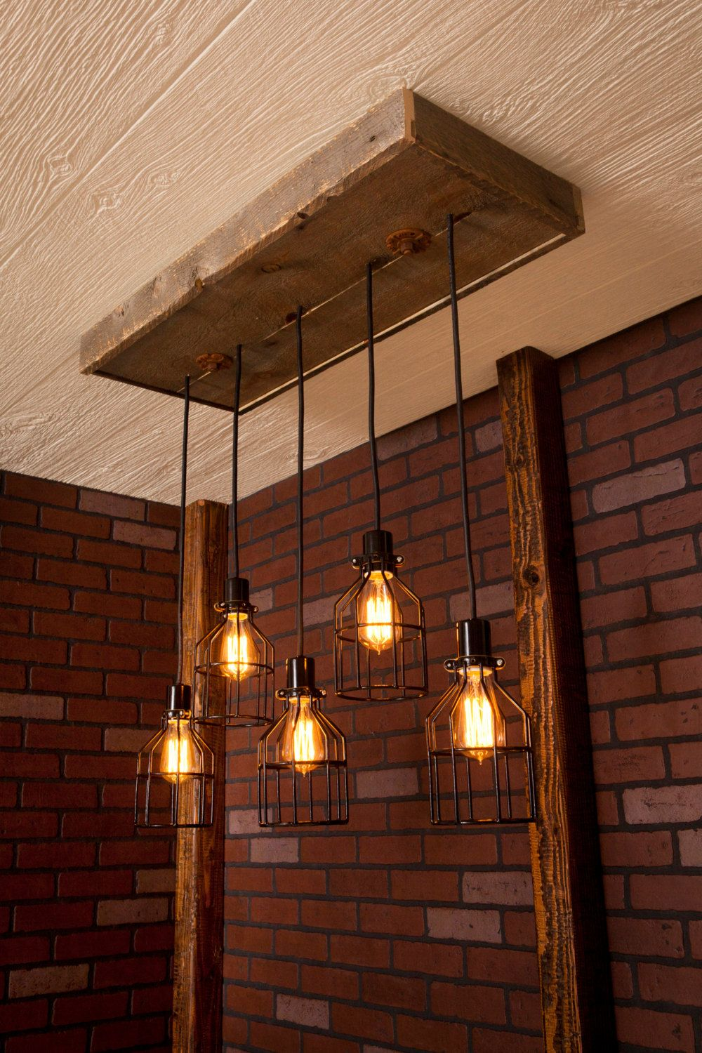 Exclusive Image Of Industrial Cage Work Light Chandelier You Most