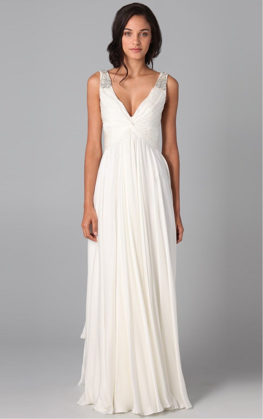 Graceful White Princess V-neck Formal Dresses | Dress | Pinterest ...