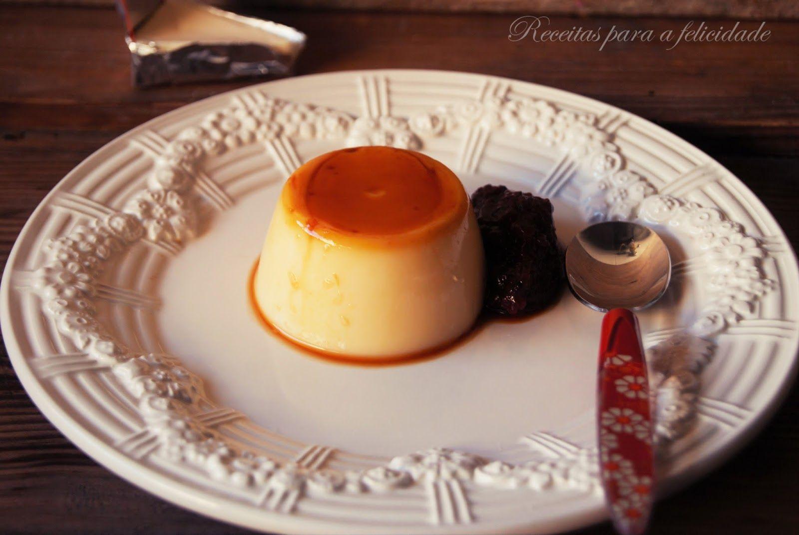 Pudins flã de cuajada e queijo-creme
