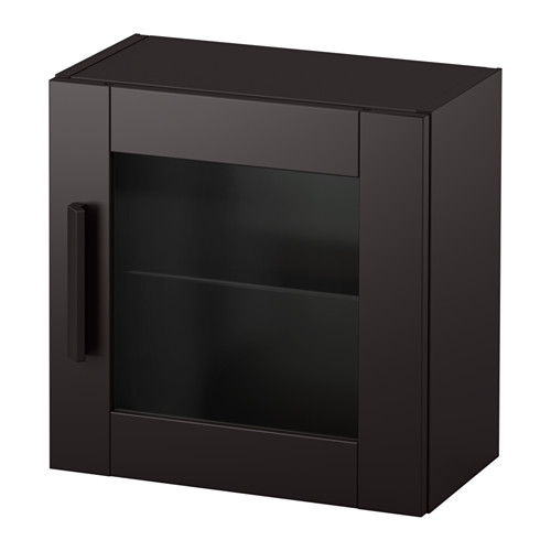 Brimnes Wall Cabinet With Gl Door Ikea Behind The Panel Doors You Can Keep Your Belongings Hidden And Free From Dust