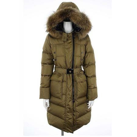 Moncler Melina Quilted Down Coat Long Light Beige - :