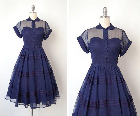 vintage 1950s dress / 1950s Teena Paige dress / 50s by cutxpaste