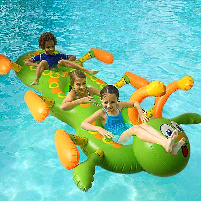 Amazon.com: Baisidai Giant Inflatable Cute Caterpillar Shape Pool ...
