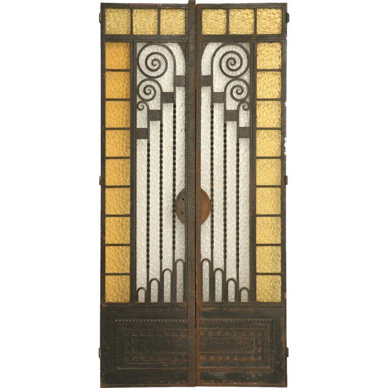 C1930 pair of fabulous french art deco doors french art modern c1930 pair of fabulous french art deco doors sciox Images