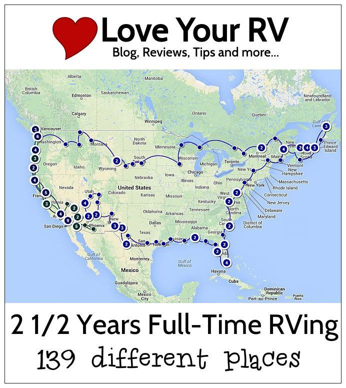 Love Your RV Travel Map