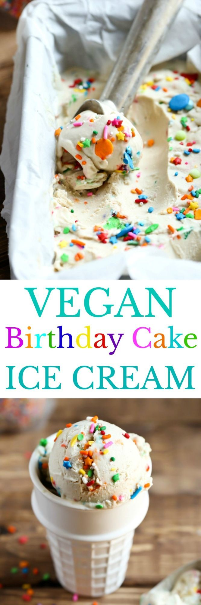 A Vegan Vanilla Birthday Cake Ice Cream Finally That Doesnt TASTE Like Coconut