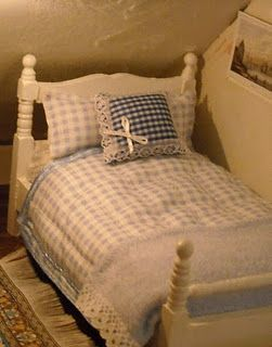 Bed for dolls house