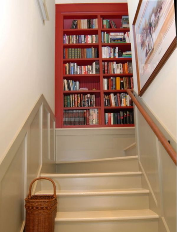 Stair Step Bookcase 10 staircase landings featuring creative use of space   staircases