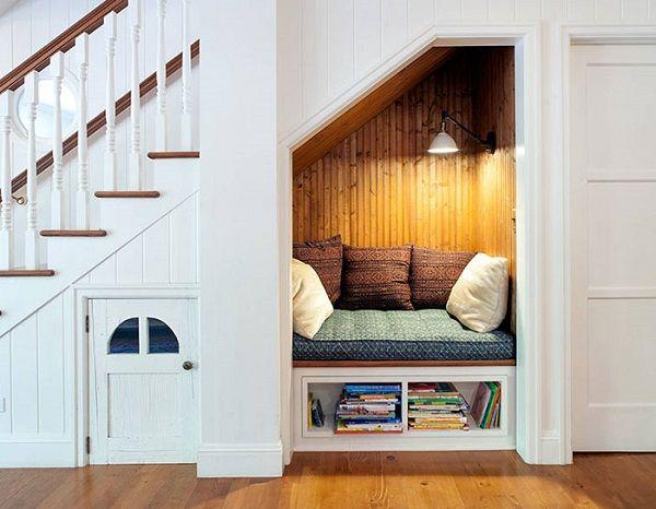 15 rincones de lectura de ensueño Office nook, Pallet furniture