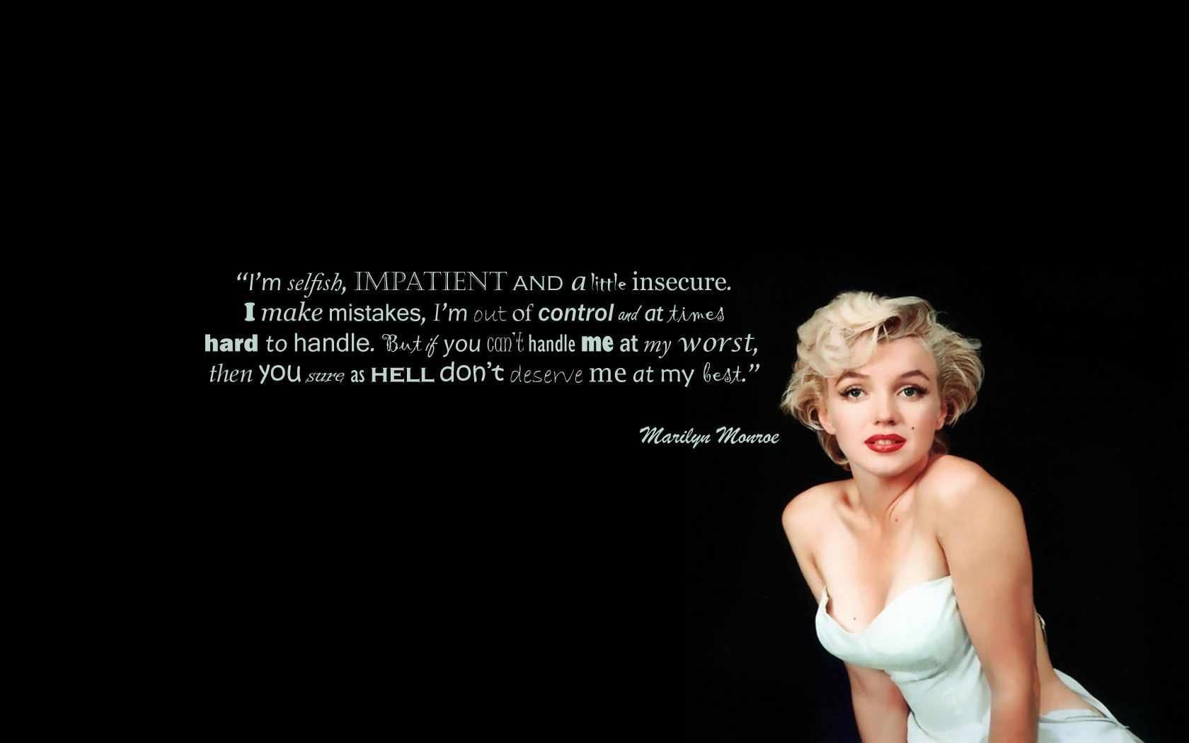 marilyn monroe quotes Marilyn Monroe Wallpaper Quotes