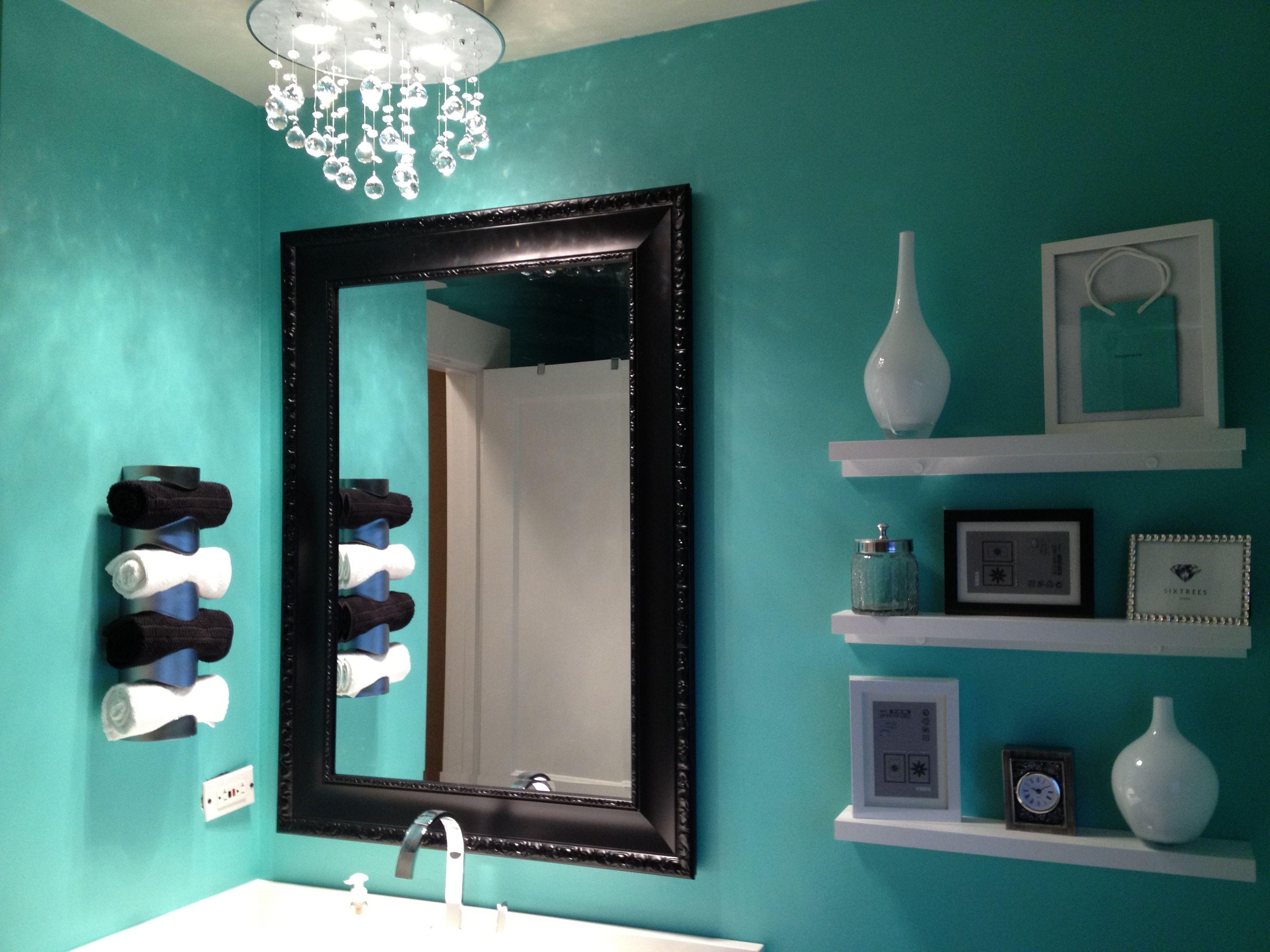 My New Tiffany Bathroom Tiffany Blue Bathrooms Dining Room Blue Blue Dining Room Decor