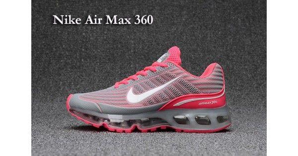 2957d9668a92 Acheter Pas Cher Femme Nike Air Max 360 Chaussures de course Gris Rose en  ligne