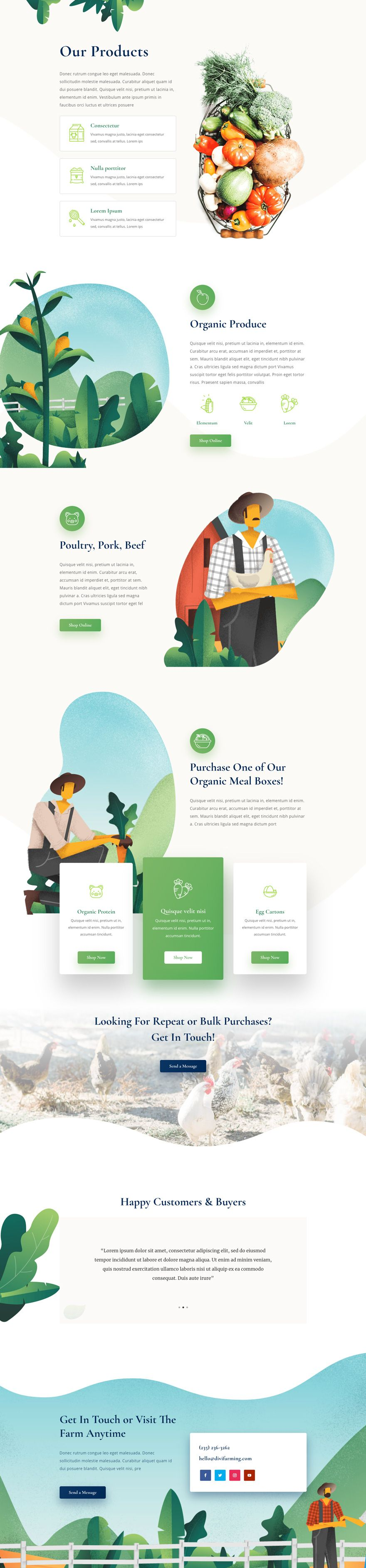 Get a FREE Farmer Layout Pack for Divi Wordpress theme