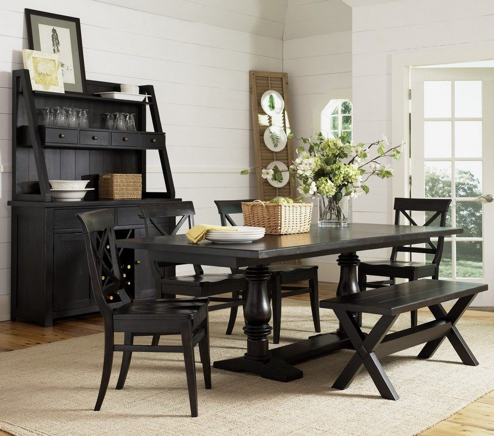 Black and white dining room sets - Dining Room Chairs Set Of Warehouse M Pub Table Set With Bar