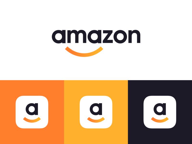 The New Amazon Logo Redesign Logo Design Logo Design Inspiration